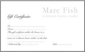 Gift Certificate Course