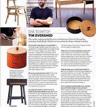 Tim Evershed featured in Homes and Garden Magazine