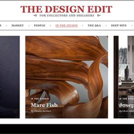 The Design Edit Sept 2019, Marc Fish. In the Studio