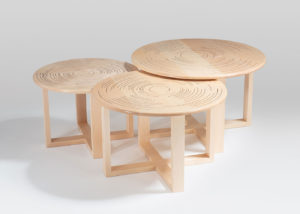 Peter Oate's nest of tables made at Marc Fish's workshop